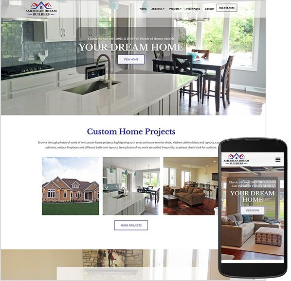 American Dream Builders website