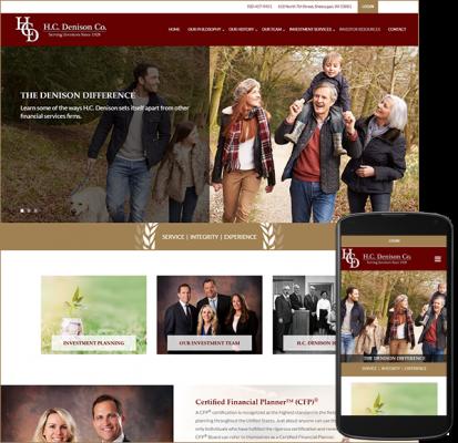H.C. Denison Co. website after redesign