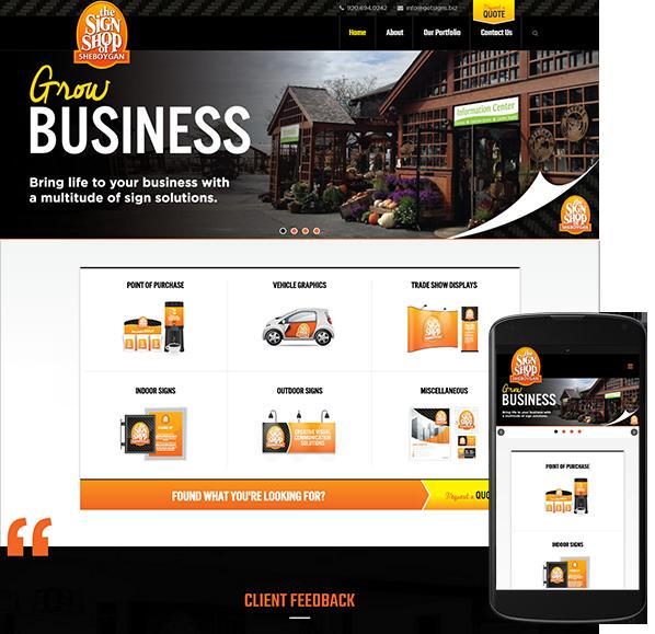 The Sign Shop of Sheboygan website