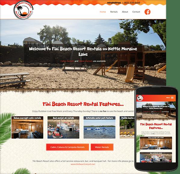 Tiki Beach Resort website