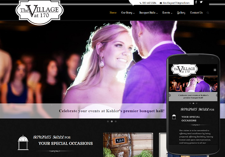 The Village at 170 website after redesign