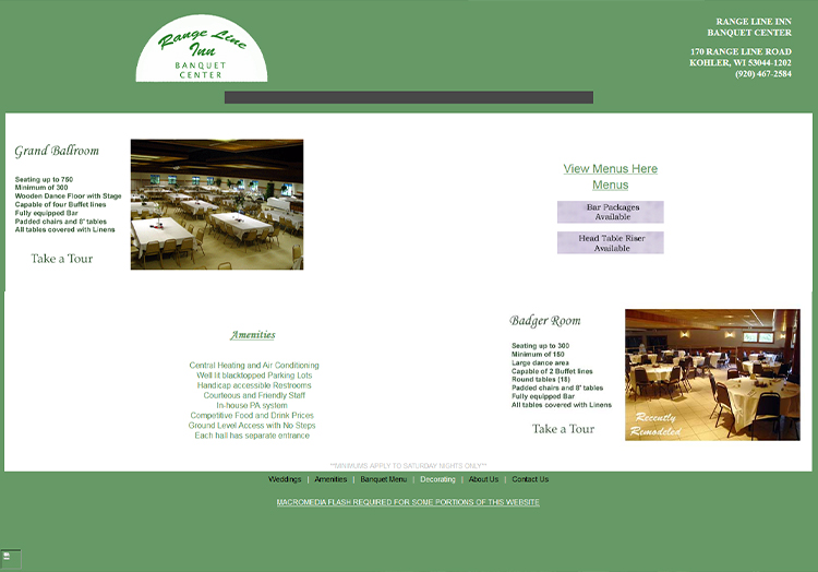 The Village at 170 website before redesign
